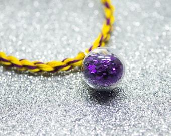 Intersex Flag, Purple Glitter, Potion Bottle Charm, LGBT Pride Bracelet, Intersex Pride, Queer Pride Month, Friendship Bracelet, LGBTQIA