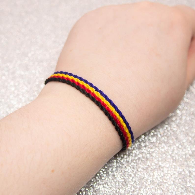 LGBTQ Pride Friendship Bracelet Polyamorous Flag Twist Bracelet Set Adjustable Anklet Polyamorous Pride Jewelry Unique Gift Queer Pride