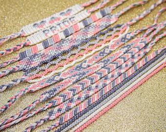 Demigirl Pride Friendship Bracelets - Choose Pattern - LGBT Pride Bracelet - Adjustable Ankle Bracelet - Gift for Her - Demigirl Flag
