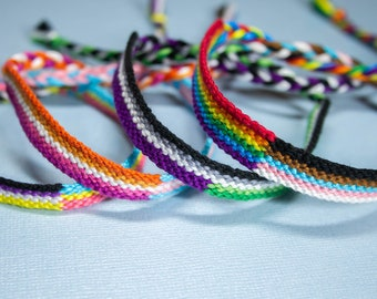 Double LGBTQ Pride Flag Friendship Bracelet Tutorial - PDF Tutorial for Friendship Bracelet - DIY for Teens - How To Guide for Queer Jewelry