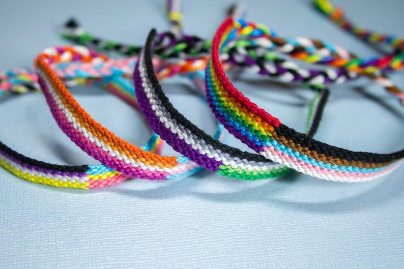 Double LGBTQ Pride Flag Friendship Bracelet Tutorial  PDF image 0