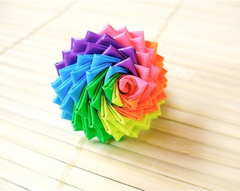Neon Rainbow Duct Tape Rose Ring - Bestselling