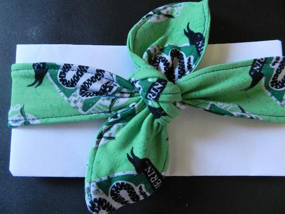 Team Slytherin Harry Potter knot headband  baby headband  1b5f7726731