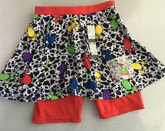 Girls deadstock 80s/90s Disney's 101 Dalmations shorts and skirt 5-6yrs