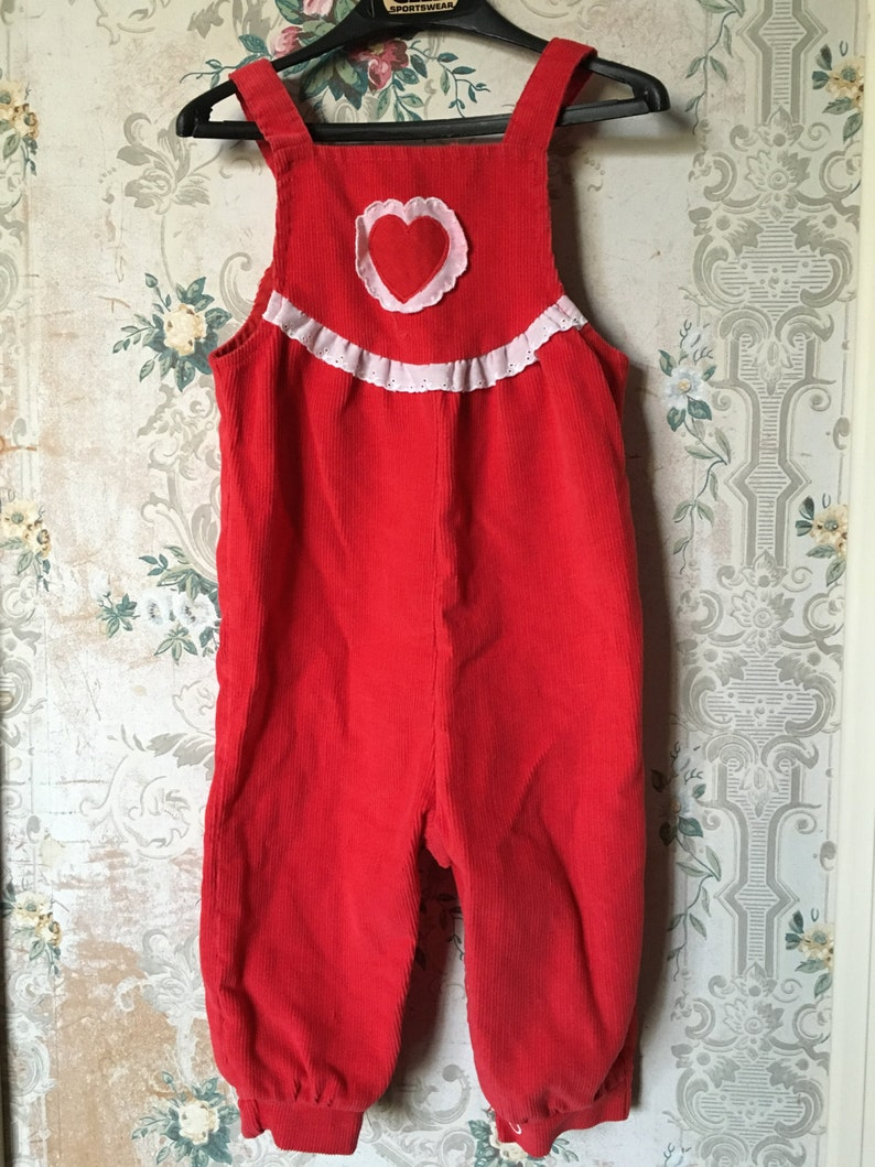 e23c89461 Health-tex red corduroy heart overalls 12m Valentine s Day