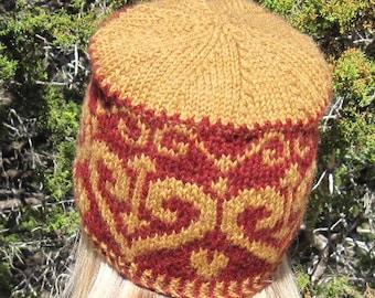 A Texas Girl Knits | Ironheart Hat | Adult Kids Valentine Fair Isle Stranded Colorwork Knit Purl Knitting Pattern PDF Download Chart Written