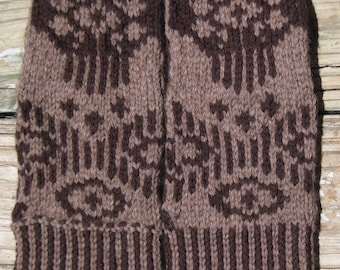 A Texas Girl Knits | Aghaa' Ála' Mittens | Fair Isle Stranded Colorwork Knitting Pattern PDF Download Charted Written Instructions