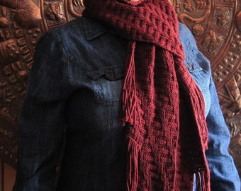 A Texas Girl Knits | Fallingwater Scarf | Frank Lloyd Wright Architecture Knit Purl Fringe Knitting Pattern PDF Download Charted Written