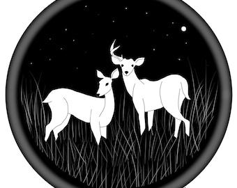 Amigos de venado de ciervo