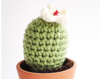 Crocheted Cactus Amigurumi Plant