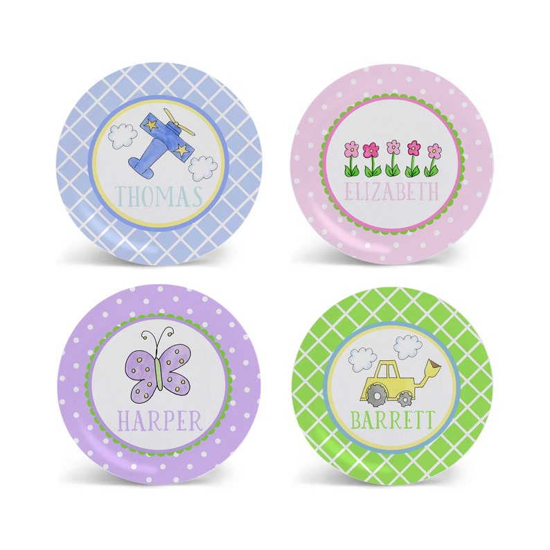 Personalized Melamine Plate for Children Kids Plate Bowl Placemat