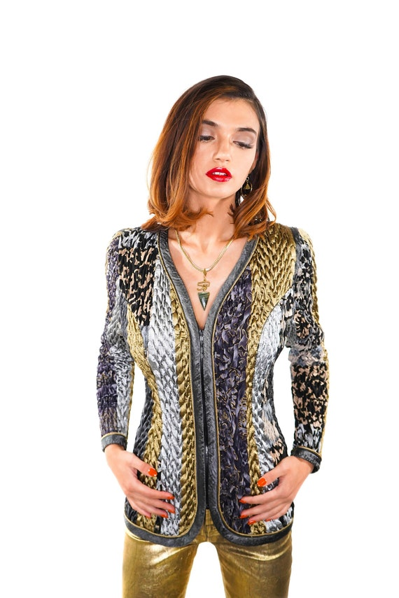 Mixed Metals Jacket by Jeanne Marc