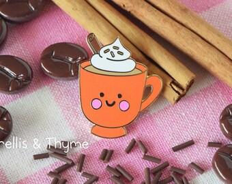 Enamel Pin - Pumpkin Spice Latte Enamel Pin, Kawaii Latte Enamel Pin, Autumn Coffee Enamel Pin, PSL Enamel Pin, Fall Pumpkin Spice Pin