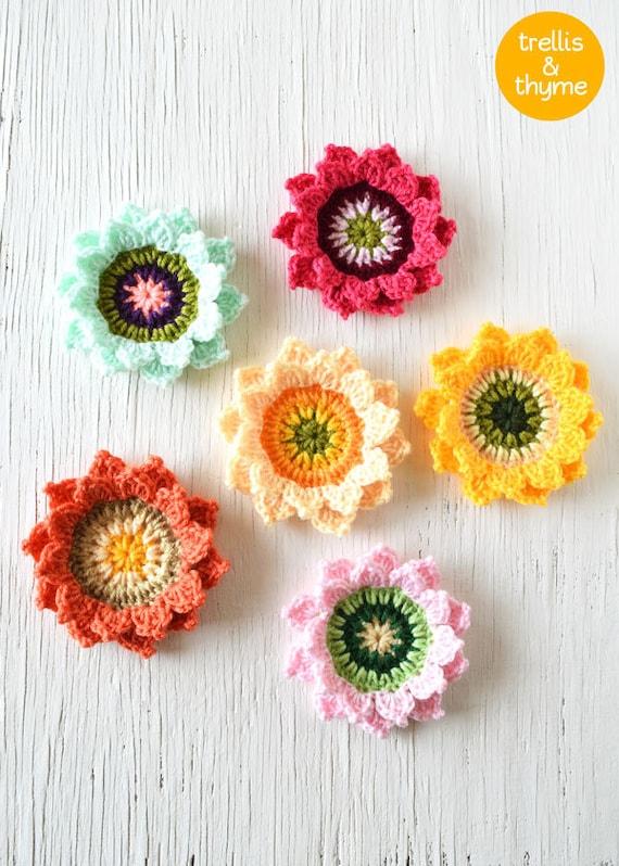 PDF-Muster Candy Blossom Häkelanleitung Blume Blume | Etsy