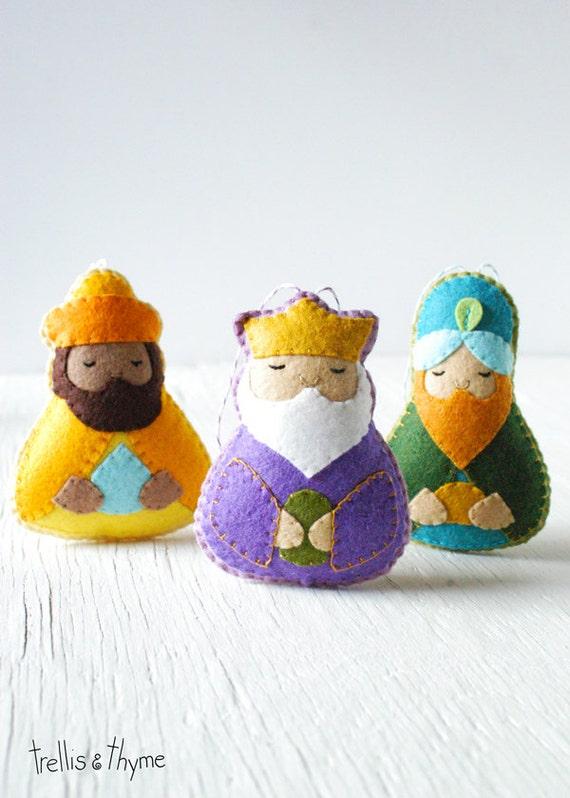 Patrón PDF magos Natividad patrón de ornamento de Reyes   Etsy