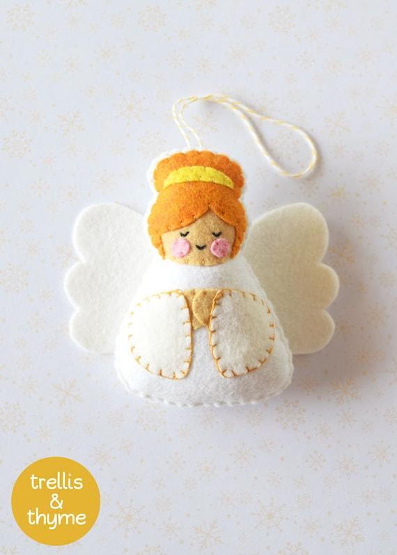 Patrón PDF angelito patrón del ornamento de fieltro | Etsy