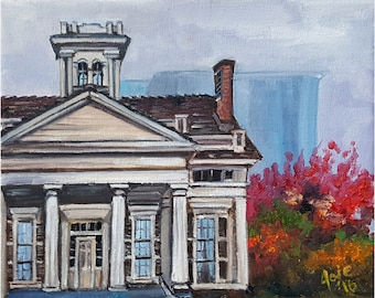 Clarke House Original Plein Air Painting - 8x10in