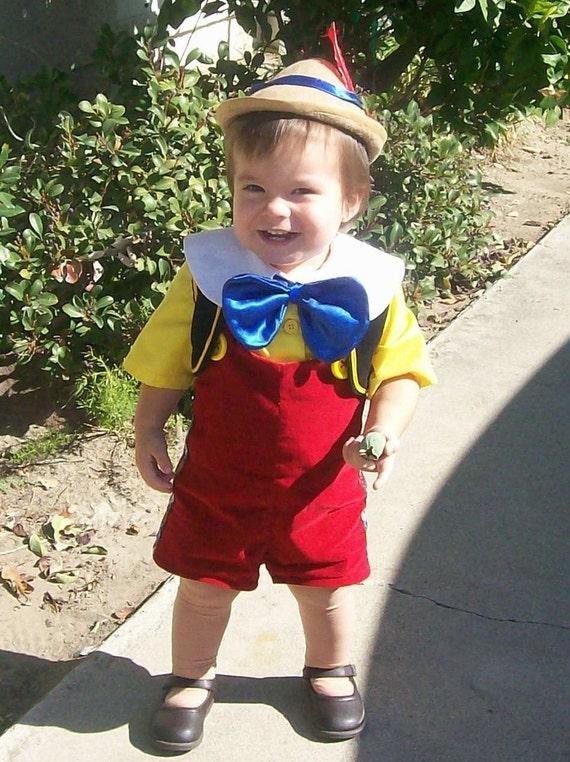 sc 1 st  Etsy & Pinocchio Costume Lederhosen Child Sizes 12 months to 4 years