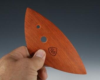 Large Triangular Pottery Rib, Padauk Platter Rib