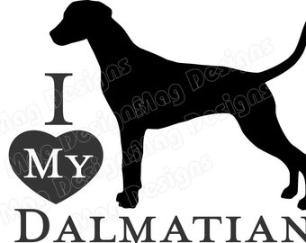 DALMATIAN Vinyl Dog Decal Silhouette in your colors