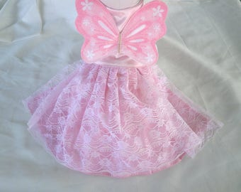 Dogs, Cats, Pets Pink Angel/ Butterfly Dress / Costume