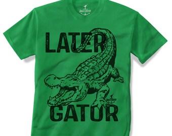 6151e3d0e ALLIGATOR -- KIDS T shirt -- Later Gator (7 color choices) Size 2t, 3t, 4t,  youth xs, yth sm, yth med, yth lg