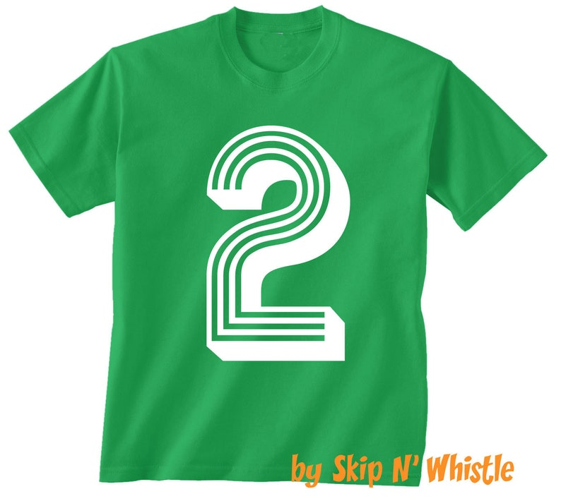 2nd BIRTHDAY KIDS T Shirt Soccer Number 2 Size 2t 3t