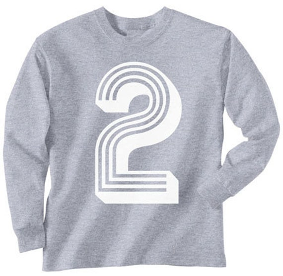 2nd Birthday T Shirt Long Sleeve ALL Sizes 2t