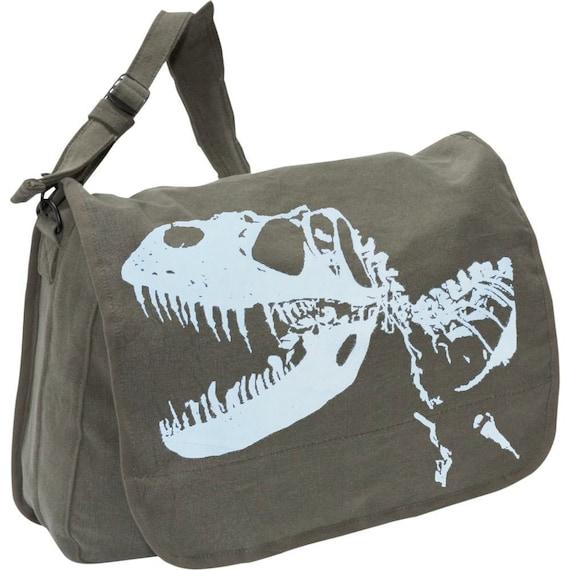 Dinosaur Print Messenger Bag Personalized