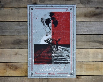 SALE Rural Ghosts band Screen Printed Poster