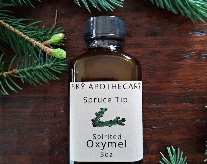 Featured listing image: Spruce tip spirited OXYMEL