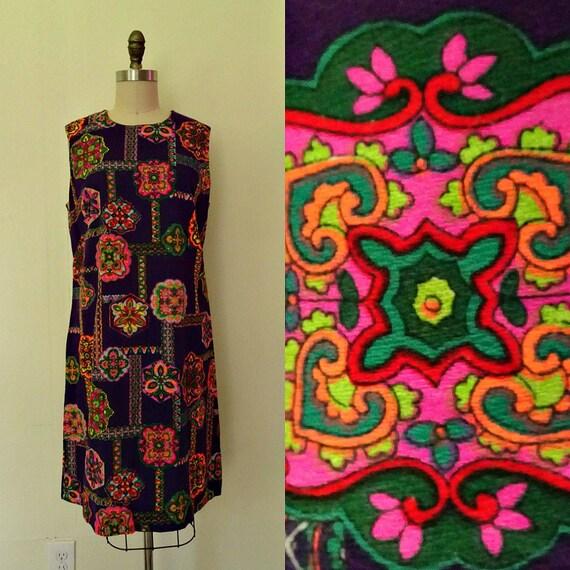 Psychedelic Kaleidoscope 1960 dress