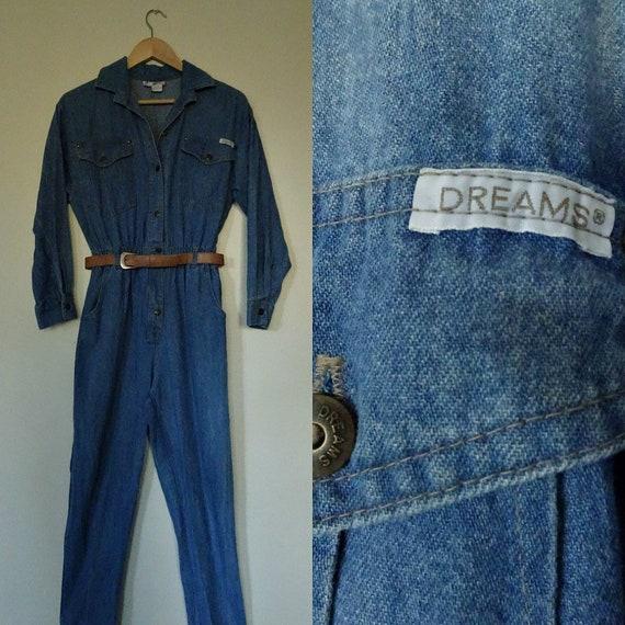 Dreams 1980s denim jumpsuit