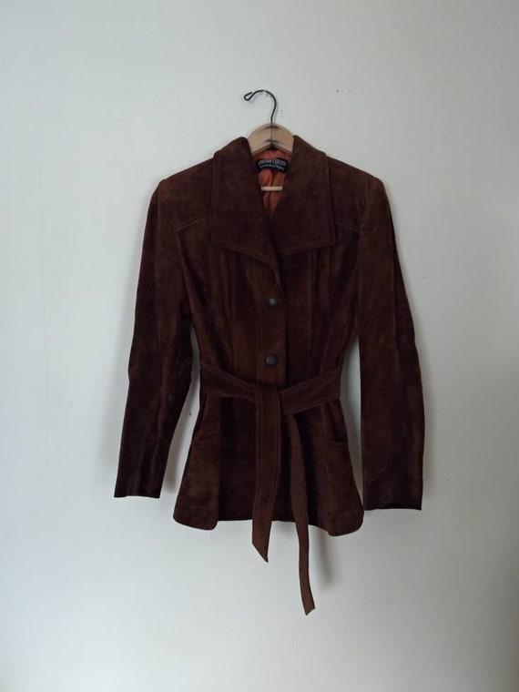 McVie 1970s chocolate brown suede women's jacket