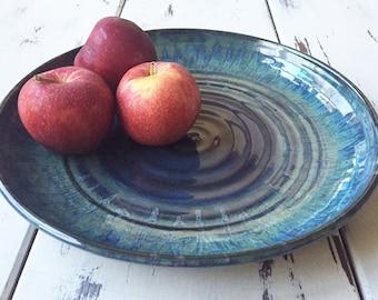 Ceramic Serving Tray, Ceramic Serving Platter, Ceramic Serving Dish, Ceramic Platter in handmade, Pottery tray, Pottery plate in handmade