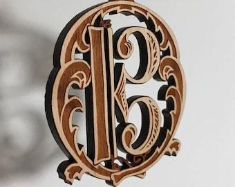 Alto clef ornament - solid cherry wood