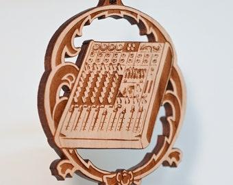 Soundboard ornament - solid cherry wood