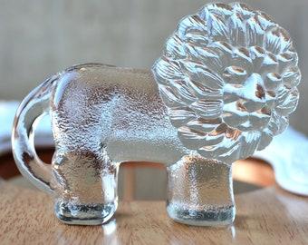 Kosta Boda Small Lion by Bertil Vallien Glass Figurine Swedish Design Paperweight