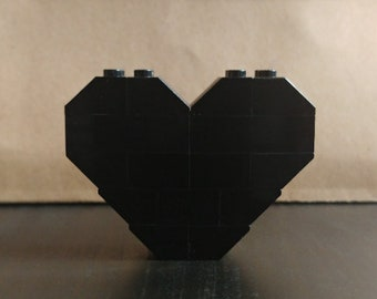 Black - Heart Pin/Brooch