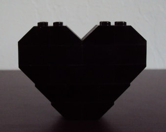 LEGO Heart Pin/Brooch (Black)
