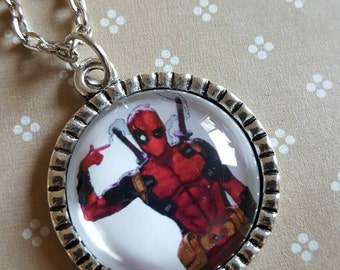 25mm deadpool pendant necklace