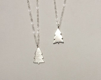 Pine tree necklace etsy christmas tree silhouette necklace evergreen necklace pine tree necklace tree necklace silver tree tree jewelry outdoors gift aloadofball Choice Image