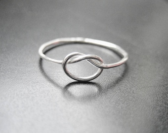 Thin Ring, Delicate Promise Ring, Sterling Silver Love Knot Ring, Knot Ring, Infinity ring, Infinity Knot Ring, Gift For Her, Ring Under 25