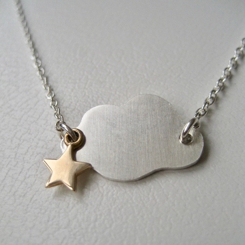 Cloud Necklace Celestial Jewelry Sterling Silver Cloud image 0