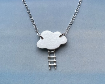 Cloud and Ladder Necklace, Celestial Jewelry, Cloud Magic Necklace, Sterling Silver Necklace, Gift For women, Gift For Her