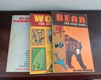 Vintage Boy Scout Books Collection Boy Scout Requirements 1969 Wolf Cub Scout Book 1973 Bear Cub Scout Book 1973 Bear Parents' Supplement