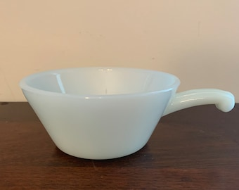 Vintage Anchor Hocking Individual French Onion Soup Bowl with Handle