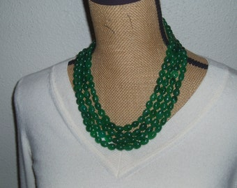 FINEST 1020.00 CTS EARTH MINED RICH GREEN EMERALD OVAL BEADS NECKLACE STRAND