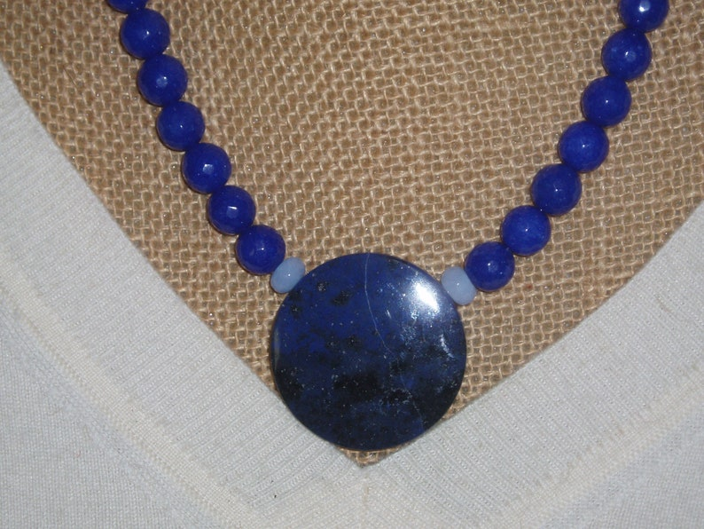 Carats Sapphire Gems Lapis Lazuli Moonstone Opals 925 Silver Necklace and Earrings