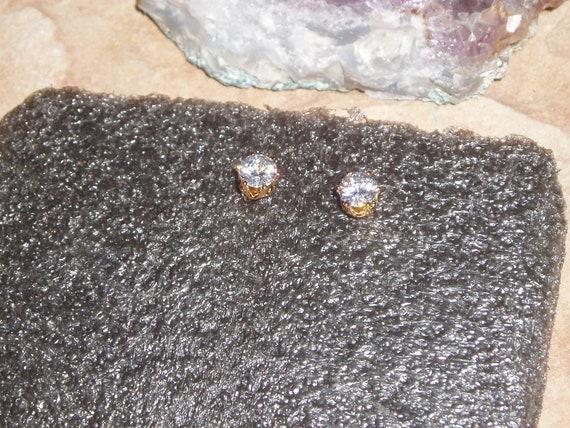 18K Gold Filled Earrings 3.0 Carats Sri Lanka ClearWhite Sapphire Teardrop